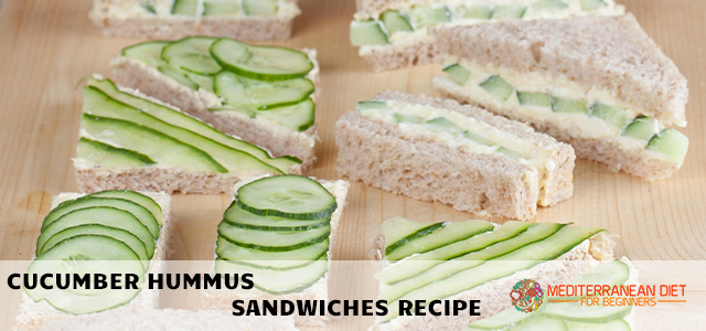 Cucumber Hummus Sandwiches Recipe