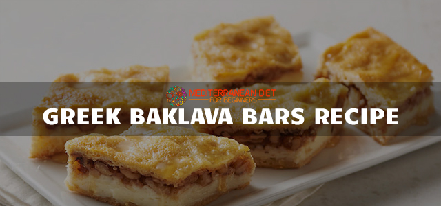 Greek Baklava Bars Recipe