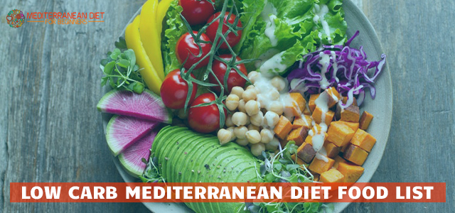 Low Carb Mediterranean Diet Food List