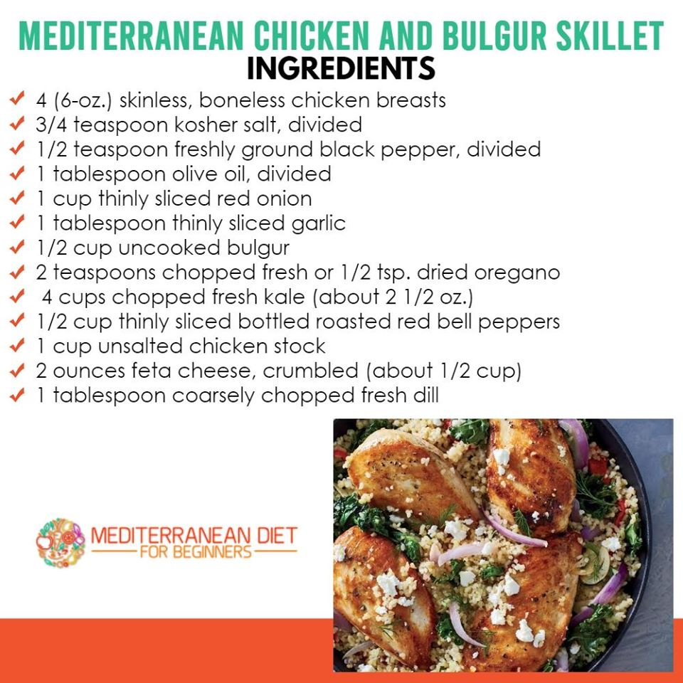 Mediterranean Chicken and Bulgur Skillet Recipe