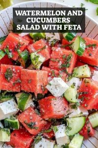 Watermelon and Cucumbers Salad with Feta Recipe