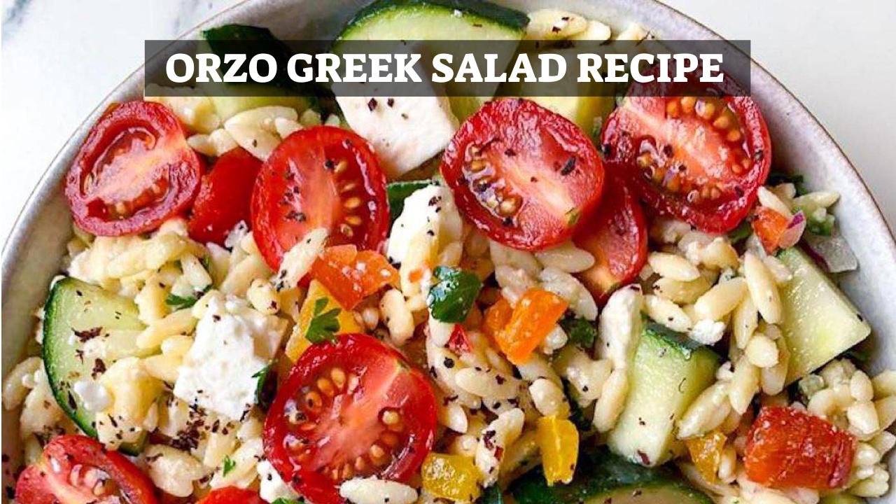 Orzo Greek Salad Recipe