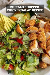 Buffalo Chopped Chicken Salad Recipe - Pinterest Graphic