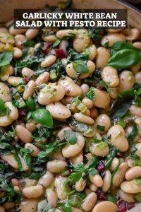 Garlicky White Bean Salad with Pesto Recipe